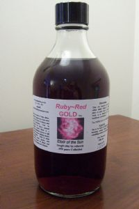Ruby~Red GOLD 100ppm New Cutting Edge HighTech Micro Colloidal gold, dark ruby red color 50ml &100ml